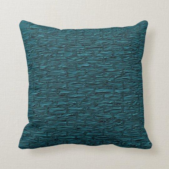 Deep Teal Brick Pattern Lumbar And Throw Pillows Zazzle Com
