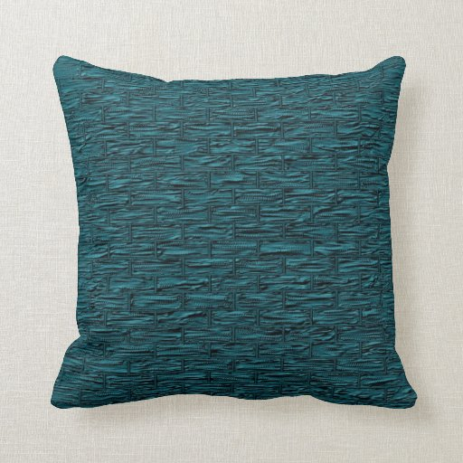 Deep Teal Brick Pattern Lumbar And Throw Pillows Zazzle