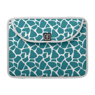 Deep Teal Giraffe Pattern MacBook Pro Sleeve