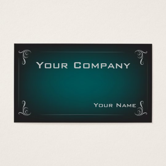 Deep Teal Gradient Corporate  Business Card