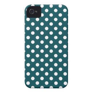 Deep Teal Polka Dot Iphone 4/4S Case iPhone 4 Cover