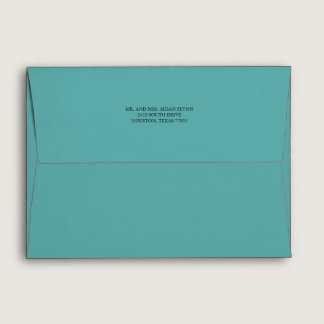 Deep Teal with Return Address Envelope