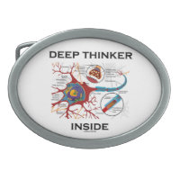 Deep Thinker Inside (Neuron / Synapse) Belt Buckles