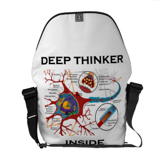 Deep Thinker Inside (Neuron Synapse) Messenger Bag