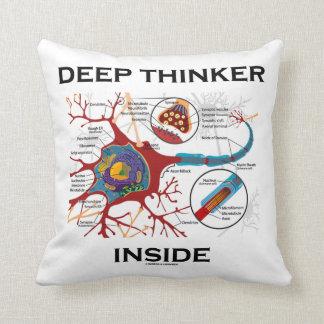 Deep Thinker Inside (Neuron Synapse) Throw Pillows