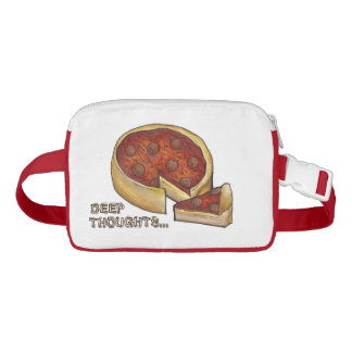 Deep Thought Pepperoni Deep Dish Pizza Fanny Pack