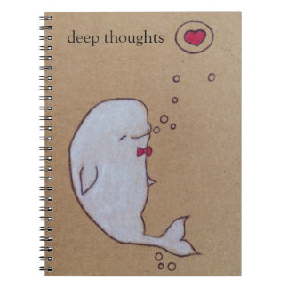 deep thoughts of a beluga whale notebook