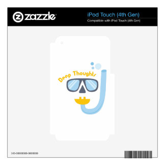 Deep Thoughts iPod Touch 4G Decal