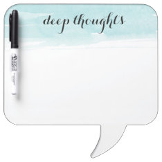 Deep Thoughts Speech Bubble Dry Erase Board at Zazzle