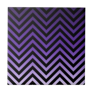 Deep to Light Purple Ombre Chevron Tile
