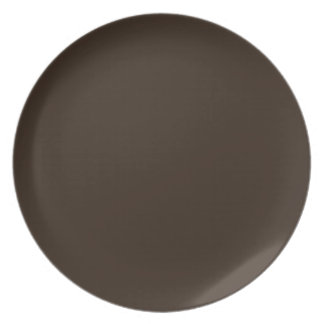 Deep Tree Trunk Brown Color Only Custom Design Party Plates
