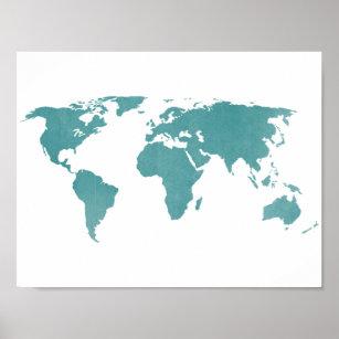 Rustic World Map Art Wall Decor Zazzle