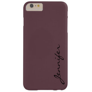 Deep tuscan red color background barely there iPhone 6 plus case
