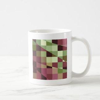 Deep Tuscan Red Purple and Green Abstract Low Poly Coffee Mug
