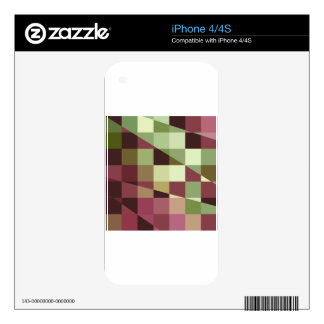 Deep Tuscan Red Purple and Green Abstract Low Poly iPhone 4S Skins