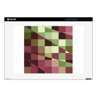 Deep Tuscan Red Purple and Green Abstract Low Poly Laptop Skin