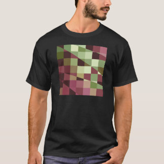 Deep Tuscan Red Purple and Green Abstract Low Poly T-Shirt