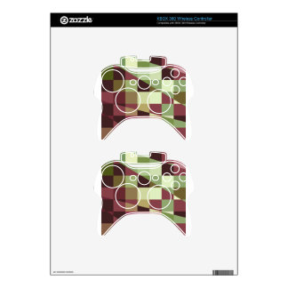 Deep Tuscan Red Purple and Green Abstract Low Poly Xbox 360 Controller Skin