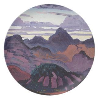 Deep Twilight, Pyrenees, c.1912-13 (oil on panel) Melamine Plate