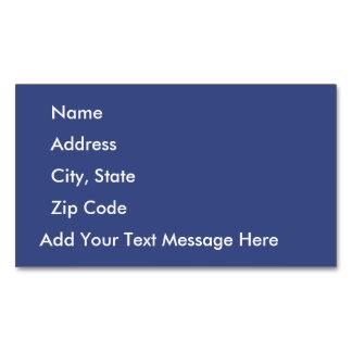Text messages business cards templates zazzle deep ultramarine magnetic business card colourmoves
