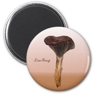 Deep Velvet Fungus with Landscape 2 Inch Round Magnet