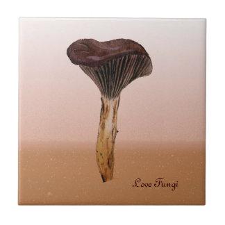 Deep Velvet Fungus with Landscape Ceramic Tile