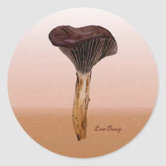 Deep Velvet Fungus with Landscape Classic Round Sticker