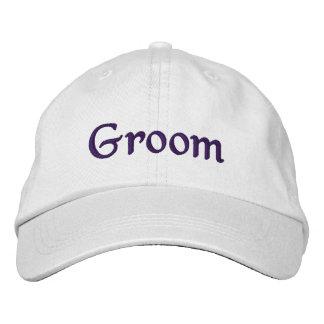 Deep Violet Groom Embroidered Hat