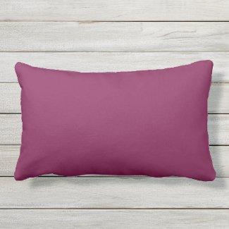 Deep Violet Solid Outdoor Lumbar Throw Pillow