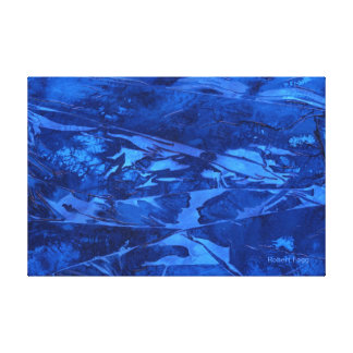 """Deep Water #1"" A big, blue abstract watercolor. Canvas Print"