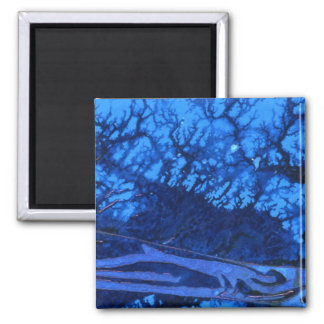 """Deep Water #3"" Abstract Art Magnet"