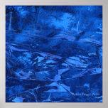 """""""Deep Water #5"""" Abstract Art by Robert Fagg blue Poster"""