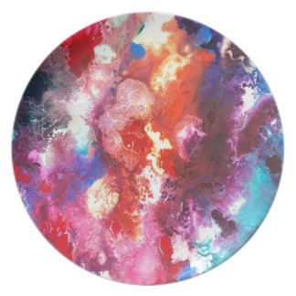 Deep Water Coral Party Plate