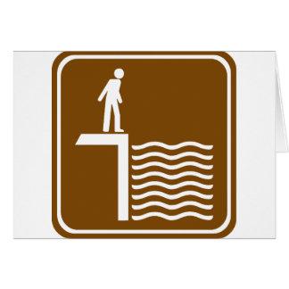 Deep Water Warning Highway Sign Card
