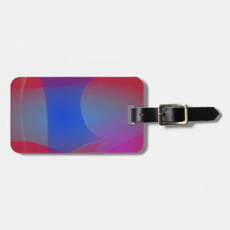 Deep Wine and Blue Luggage Tag