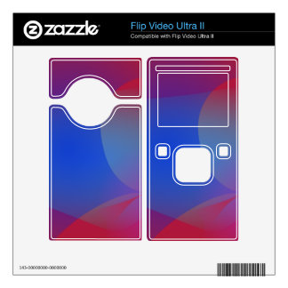 Deep Wine and Blue Decal For Flip Ultra II