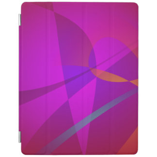 Deep Wine Red Abstract Design iPad Cover
