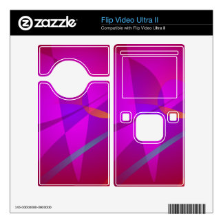 Deep Wine Red Abstract Design Skin For Flip Ultra II