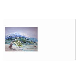 Deep Winter, acrylic landscape Business Card Templates