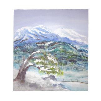 Deep Winter, acrylic landscape Memo Notepad