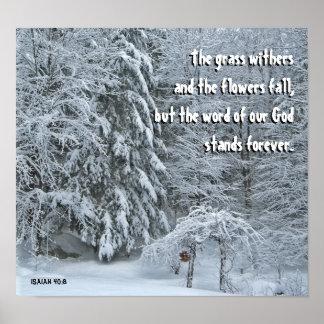 Deep Winter Christian Poster