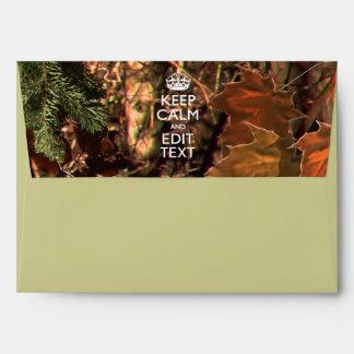 Deep Woods Camo Fall Keep Calm Your Text Envelope