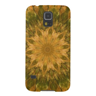 Deep Woods Camo Gold and Green Kaleidoscope Cases For Galaxy S5