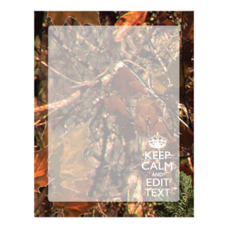 Deep Woods Camouflage Keep Calm Have Your Text Letterhead