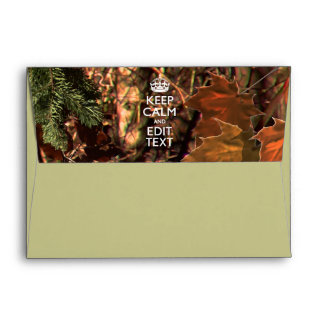 Deep Woods Camouflage Keep Calm Your Text! Envelope
