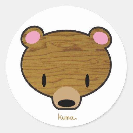 Deep woods Kuma Classic Round Sticker