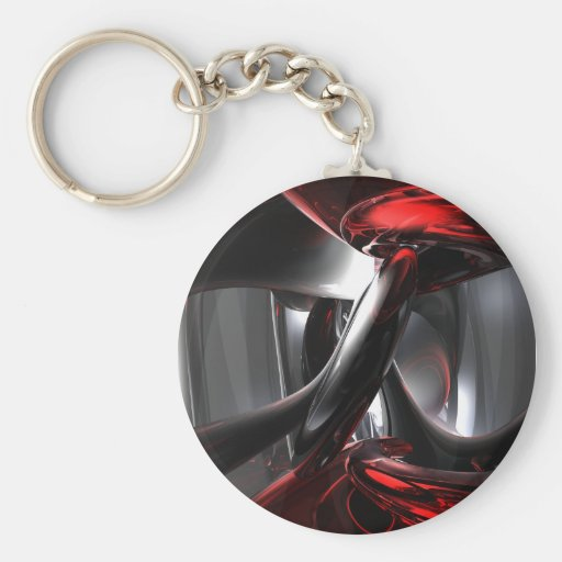 Deep Wounds Abstract Keychain