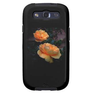 Deep Yellow - Orange Roses, on Black. Galaxy SIII Cases