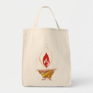 Deepak : Diwali Lamp Tote Bag