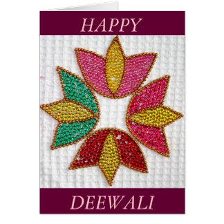 Deepavali or Deewali Greeting Card